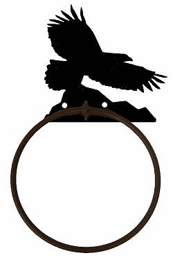 Towel Ring-Eagle Design