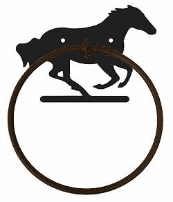 Towel Ring-Galloping Horse Design