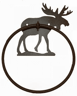 Towel Ring-Moose Design