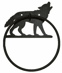 Towel Ring-Wolf Design