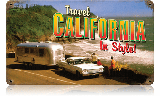 Travel California Vintage Look Vacation Sign