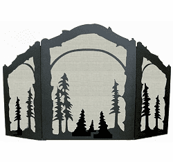 Tree Arched or Straight Fireplace Screen