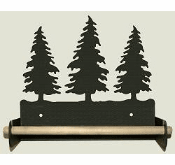 Tree Paper Towel Holder with Wood Bar