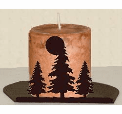 Tree Silhouette Candle Holder