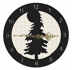 Tree Smooth Edge Rustic Clock