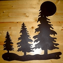 Tree with Moon Wall Art in Style 1