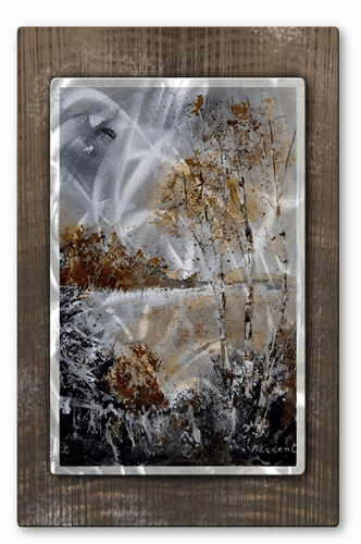 Trees Surrounding the Field Metal Wall Decor
