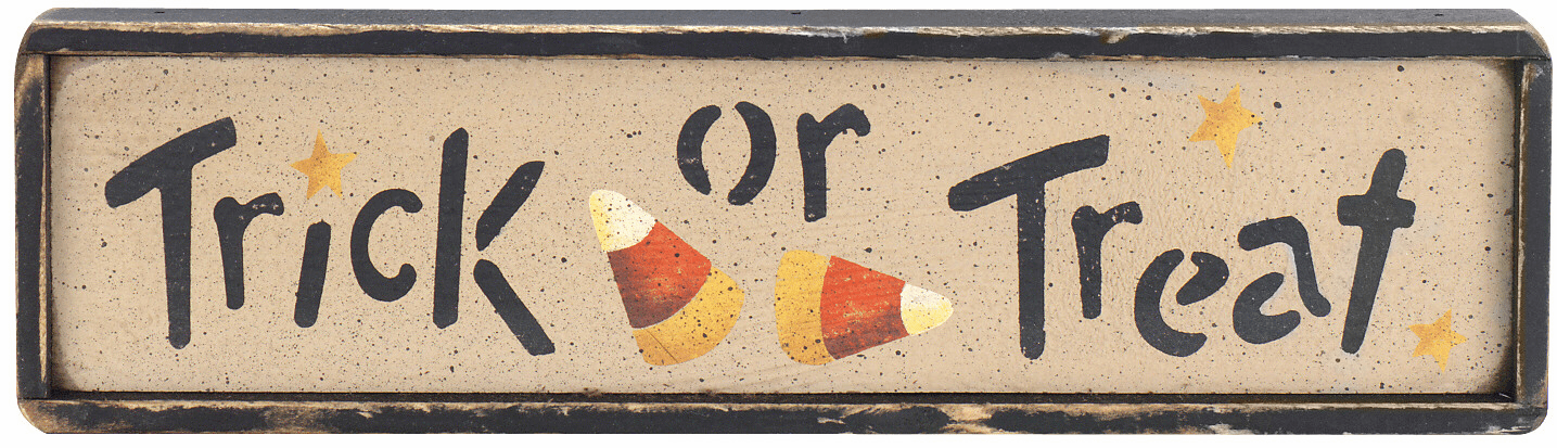 Trick or Treat  Sign - Candy Corn