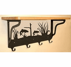 Trout Coat Hook with Shelf