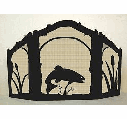 Trout Design Screen - Arched Top