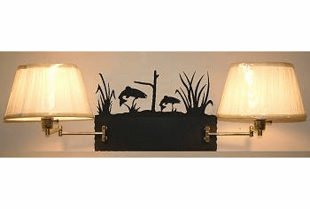 Trout Double Swing Arm Wall Lamp