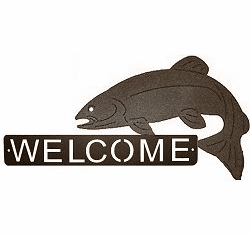 Trout Fishing Welcome Sign