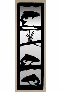 Trout Large Accent Mirror Wall Art