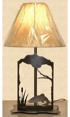 Trout Metal Art Table Lamp