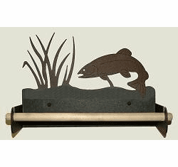 Trout Paper Towel Holder With Wood Bar