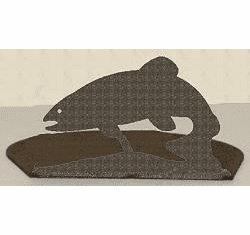 Trout Silhouette Candle Holder