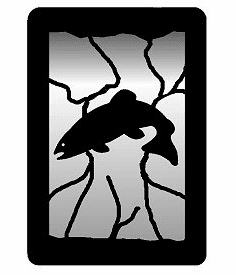 Trout Small Accent Mirror Wall Art