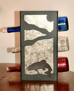 Trout Wine Bottle Rack