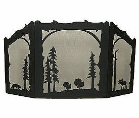 Turkey, Bear and Moose Arched or Straight Top Fireplace Screen