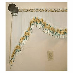 Turkey Curtain Rod Holder Pair