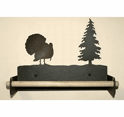 Turkey Paper Towel Holder With Wood Bar
