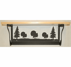 Turkey Rustic Towel Bar with Shelf