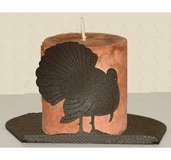 Turkey Silhouette Candle Holder