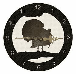 Turkey Smooth Edge Rustic Clock