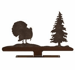 TURKEY WITH TREE DESIGN TOP