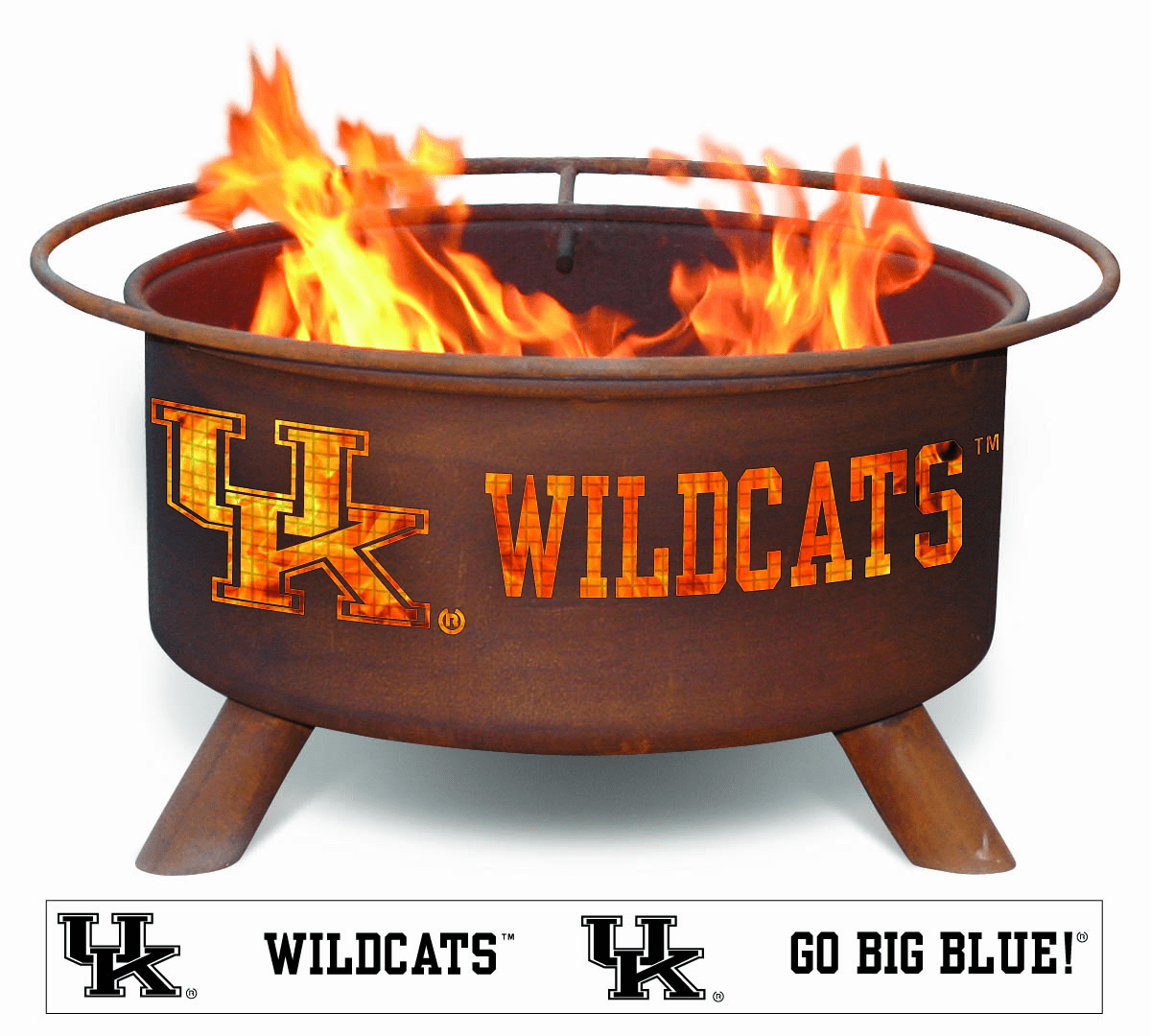 University of Kentucky Design - Wildcat's Logo Fire Pit