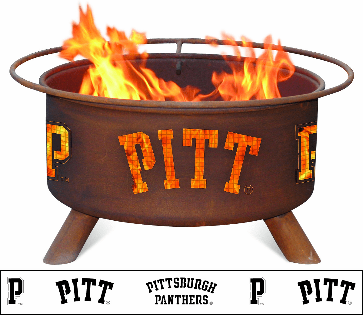 University of Pittsburgh Fire Pit - Pitt Panthers Logo Fire Ring