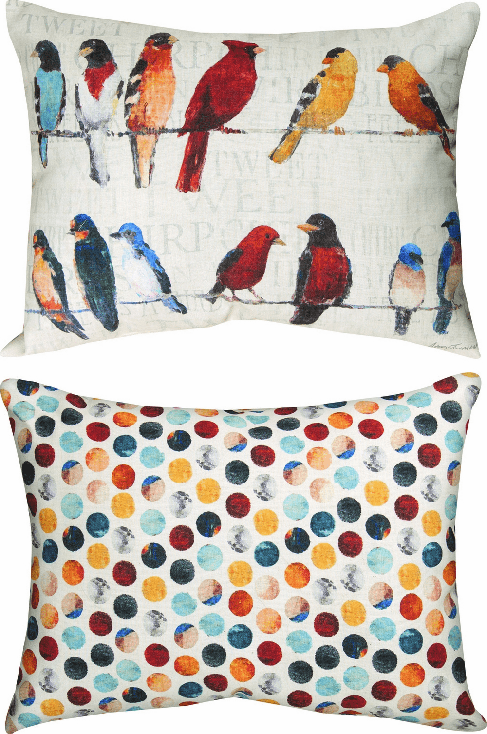 Usual Suspects Birds Climaweave Reversible Pillow