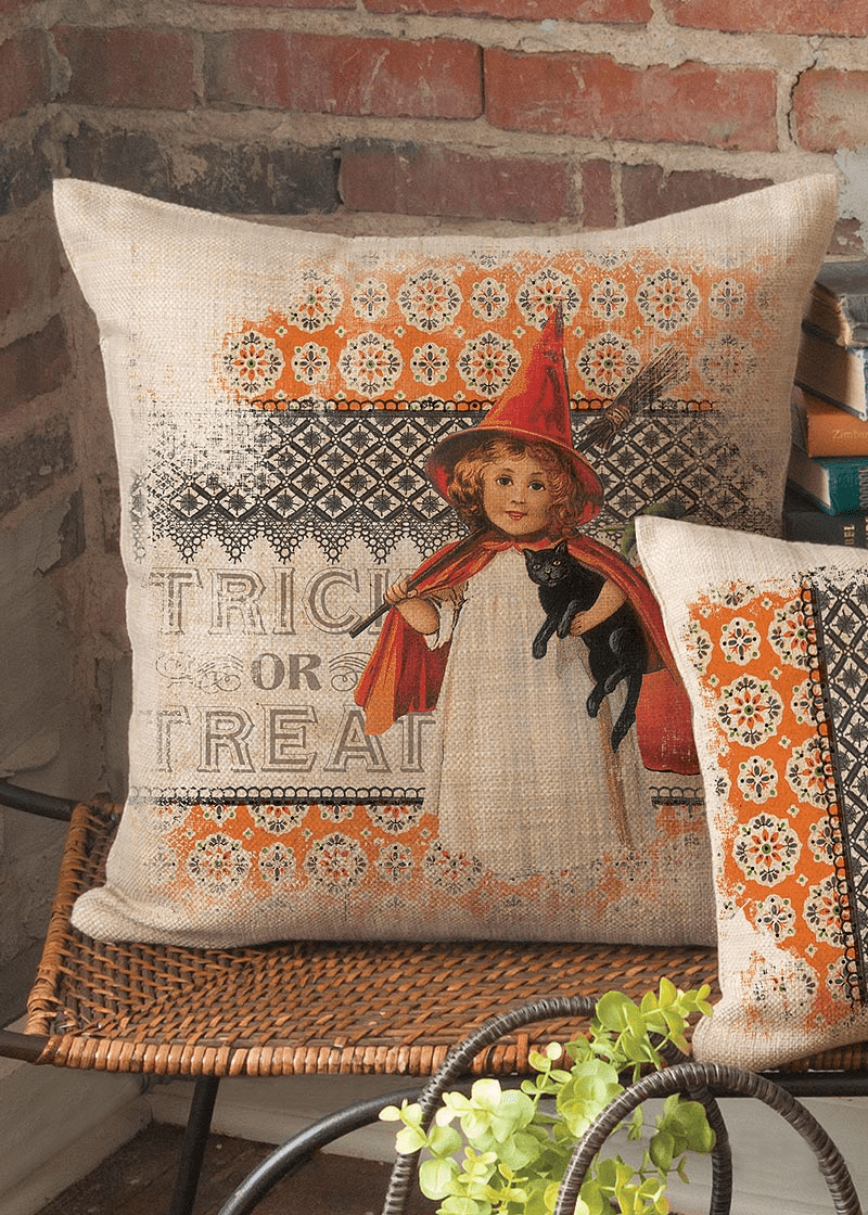 Victorian Halloween Large Pillow