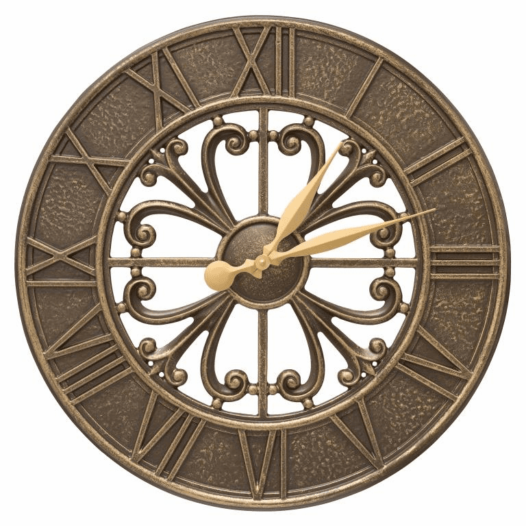 Villanova 21 inches Indoor Outdoor Wall Clock - French Bronze