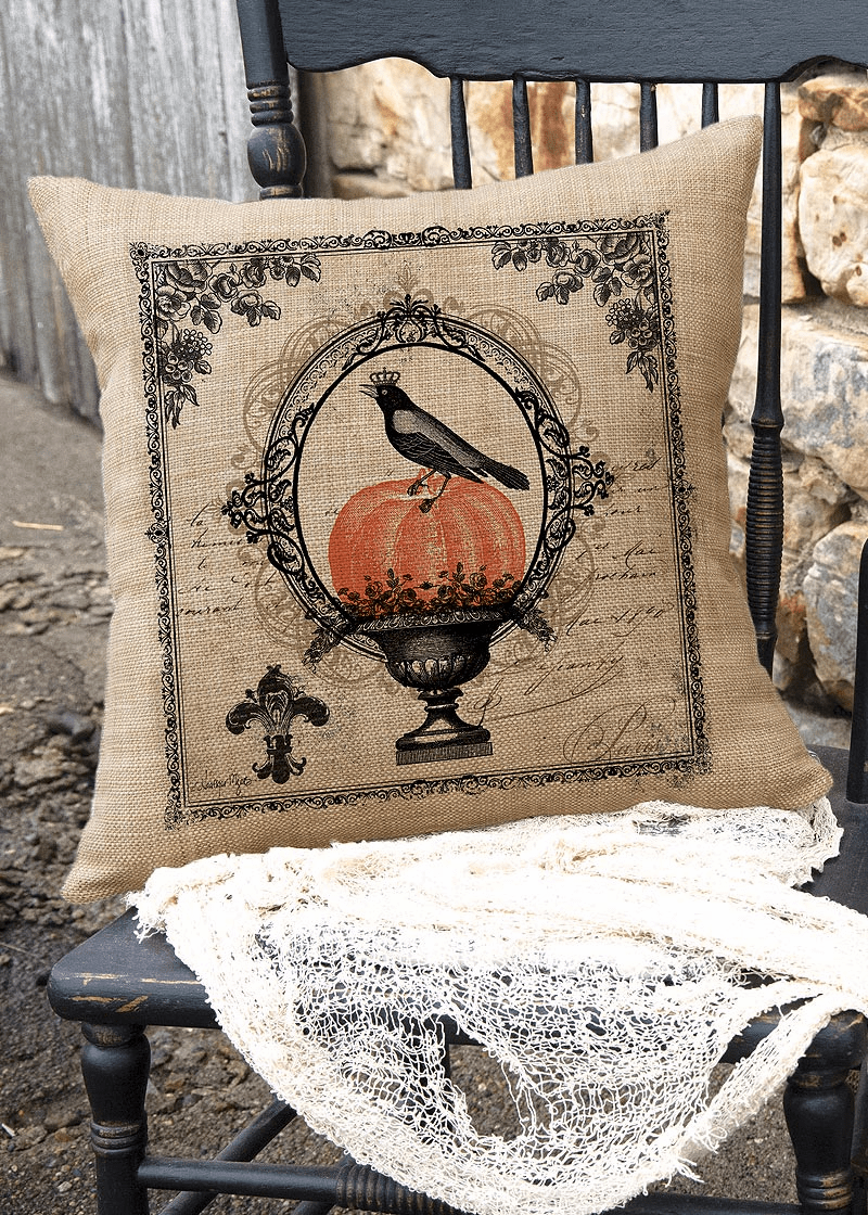 Vintage Halloween Large Pillow