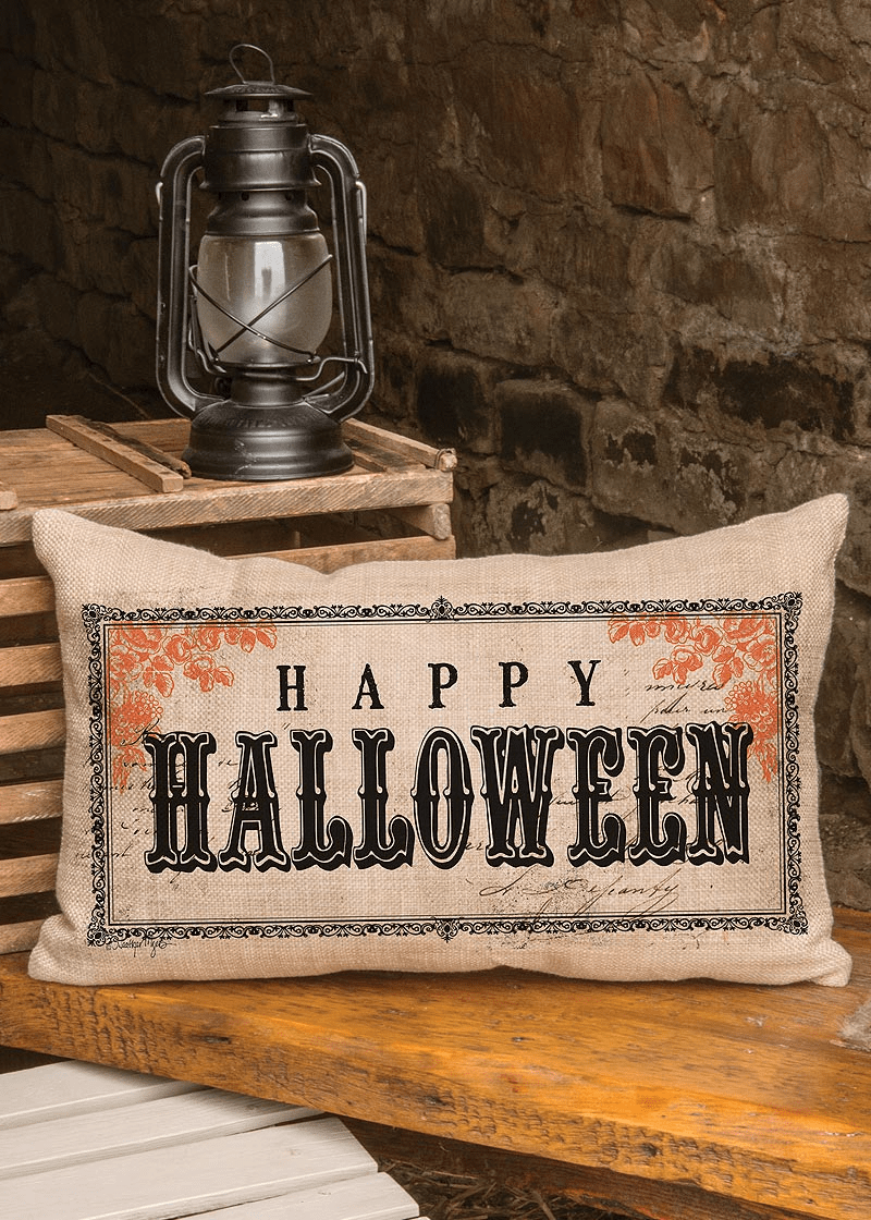 Vintage Halloween Small Pillow