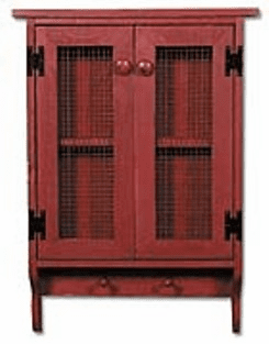 Wall Cupboard with Mesh Doors - Kitchen Pantry Cupboard