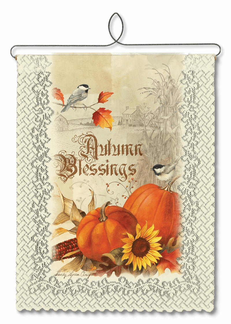 Wall Decor Autumn Blessings Banner