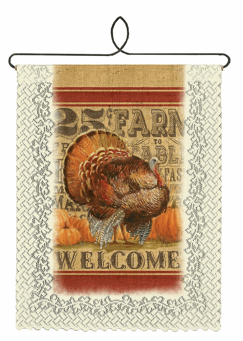 Wall Decor Turkey Welcome Banner