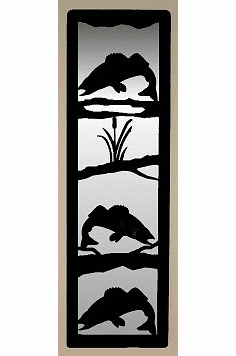 Walleye Large Accent Mirror Wall Art