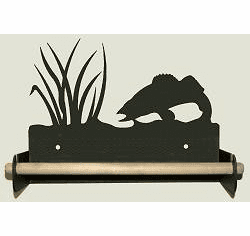Walleye Paper Towel Holder With Wood Bar