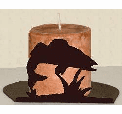 Walleye Silhouette Candle Holder
