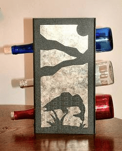 Walleye Wine Bottle Rack