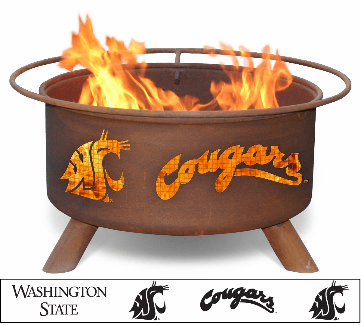 Washington State Cougars Logo Fire Pit