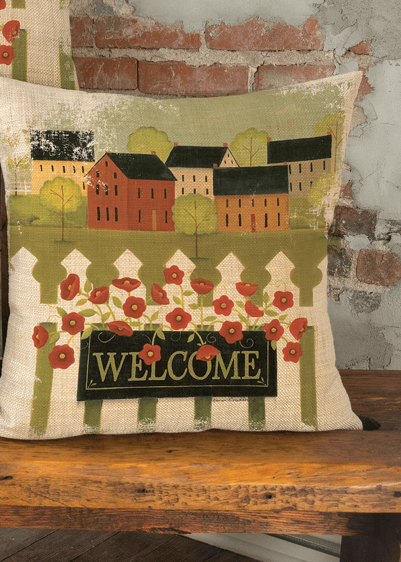 Welcome Live Simply Large Pillow