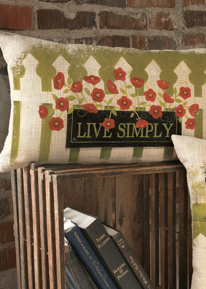 Welcome Live Simply Small Pillow