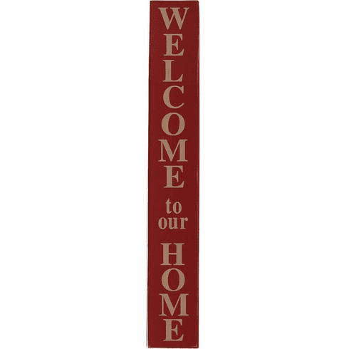 124ddae67300a Welcome to Our Home - Vertical Sign