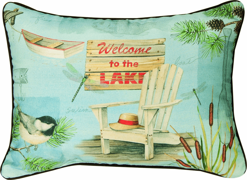 Welcome to the Lake Rectangle Pillow