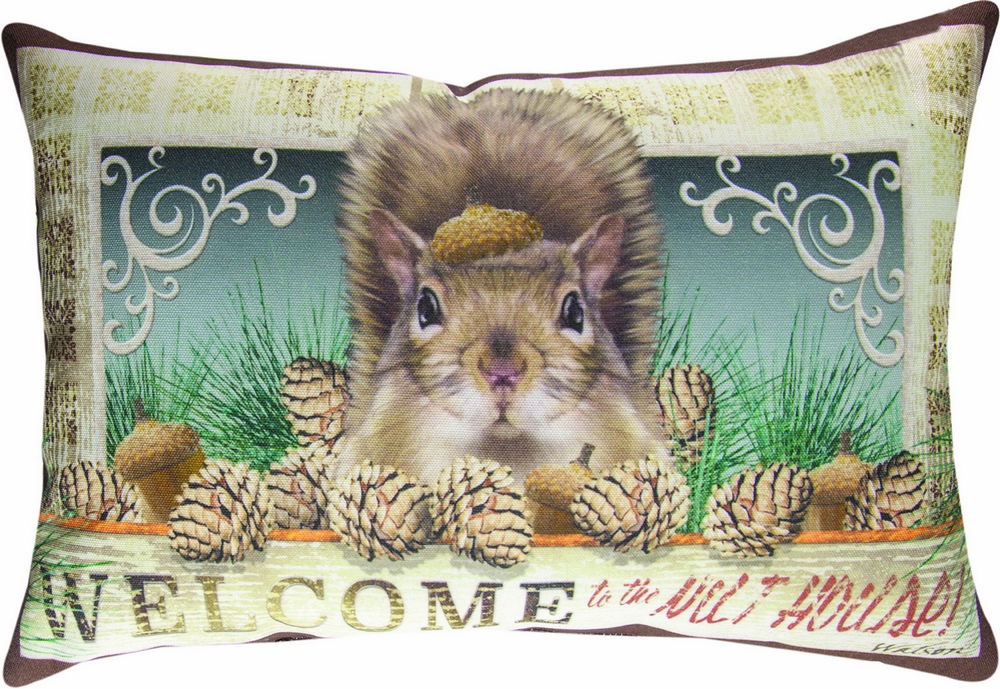 Welcome to the Nut House Climaweave Pillow