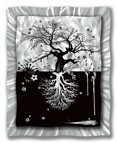 What Grows Up... Metal Wall Decor
